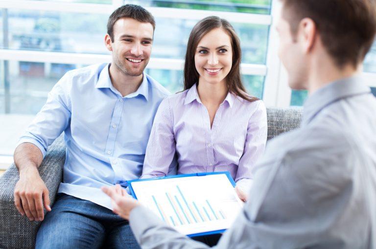 couple having financial consultation