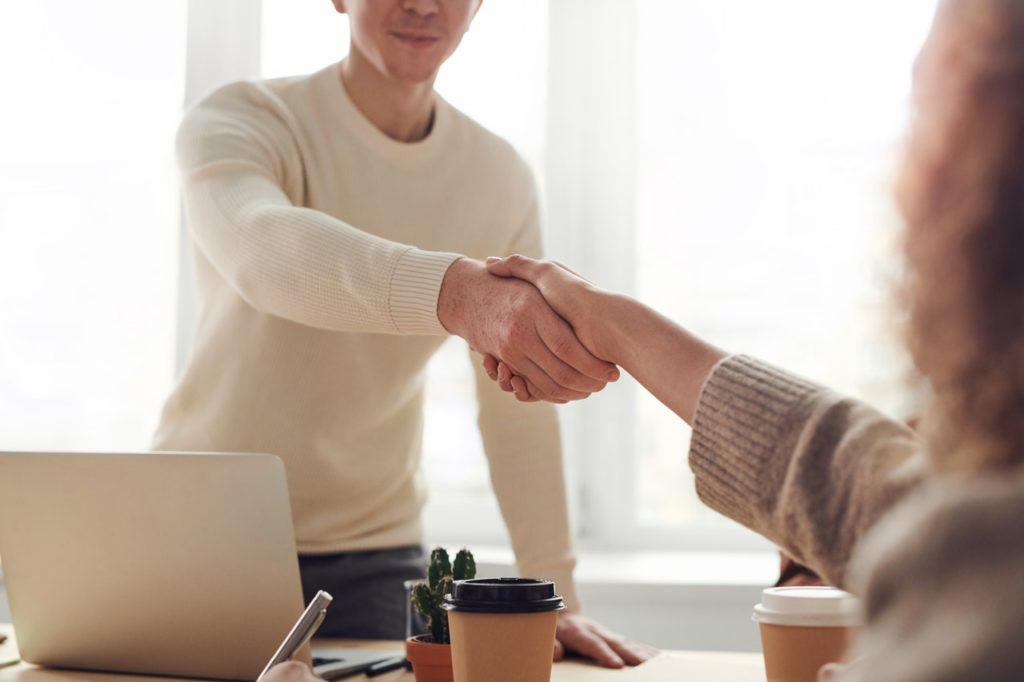 formal hand shake